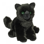 Salem the 12 Inch Stuffed Floppy Black Cat by Douglas
