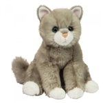 Rita the 12 Inch Plush Floppy Gray Cat by Douglas