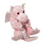 Stuffed Baby Pink Dragon Lil' Handfuls Plush by Douglas