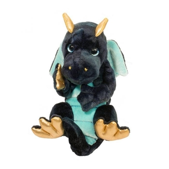 Stuffed Baby Navy Dragon Lil' Handfuls Plush by Douglas