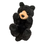 Stuffed Baby Black Bear Lil Handfuls Plush by Douglas