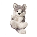 Stuffed Husky Puppy Lil Handfuls Plush by Douglas