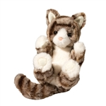 Stuffed Gray Striped Kitten Lil Handfuls Plush by Douglas