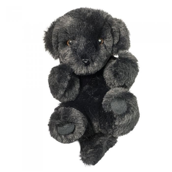 Stuffed Black Lab Lil' Handful Pup Dog by Douglas