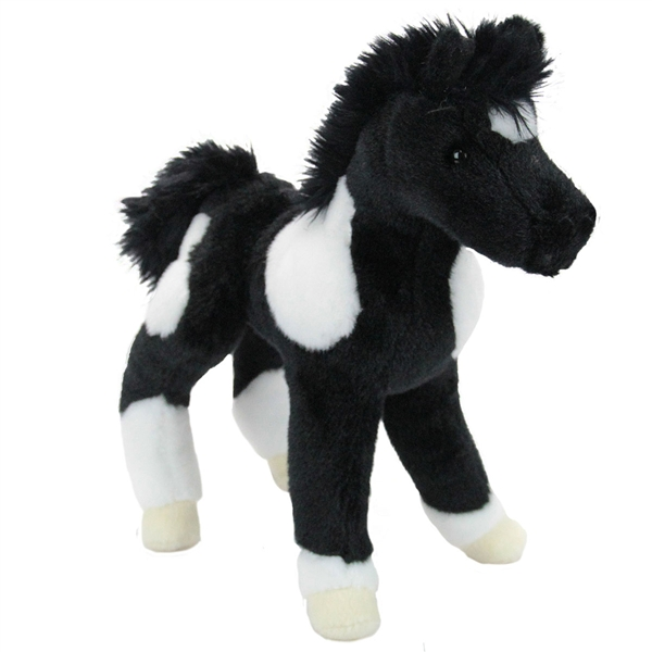 Runner The Stuffed Black And White Horse Foal By Douglas At Stuffed
