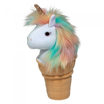 Unicorn Ice Cream Cone Plush Macaroon by Douglas