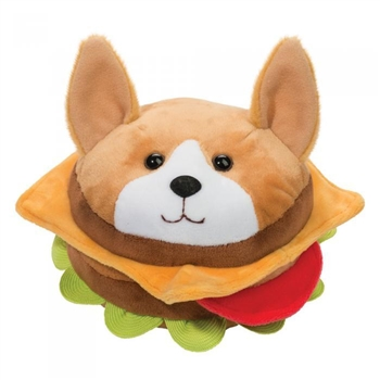 Corgi Burger Plush Macaroon by Douglas