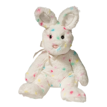 Confetti the Brightly Spotted White Bunny Stuffed Animal by Douglas