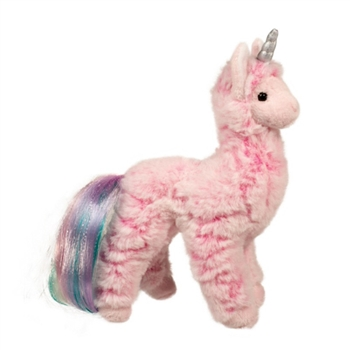 Lenora the Small Pink Plush Llamacorn by Douglas