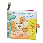Little Puppy Gets Adopted Plush Baby Book by Douglas