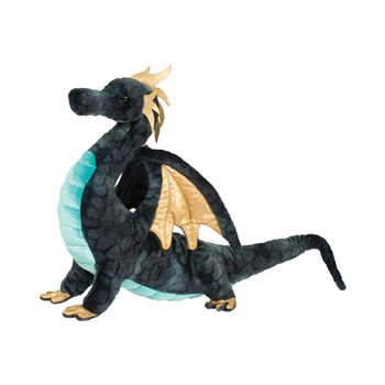 Aragon the Navy Blue Plush Dragon by Douglas