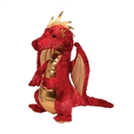 Eugene the Standing Red and Gold Plush Dragon by Douglas
