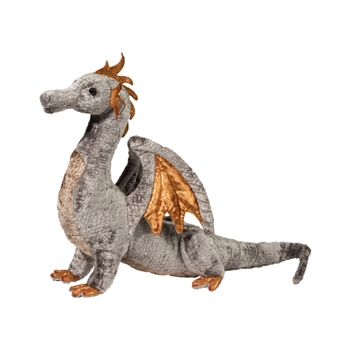 Faust the Silver Plush Dragon by Douglas
