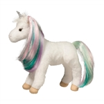 Princess Jules the Small Plush White Unicorn with Brush by Douglas