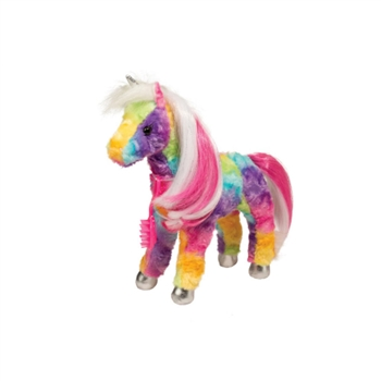 Princess Jacinta the Plush Rainbow Unicorn with Brush by Douglas