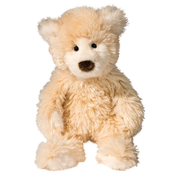 Brulee the Small Fuzzy Cream Teddy Bear by Douglas