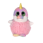 Liz the Pom Pals Pink Narwhal Stuffed Animal by Fiesta