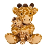 Mom and Baby Plush Giraffes by Fiesta