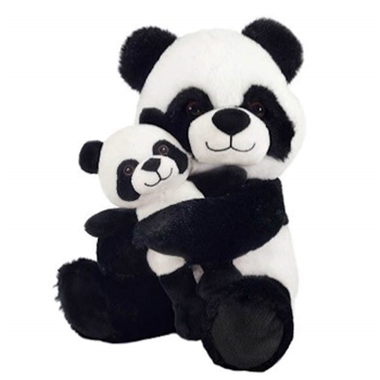 Mom and Baby Plush Pandas by Fiesta