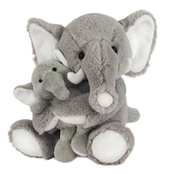 Mom and Baby Plush Elephants by Fiesta