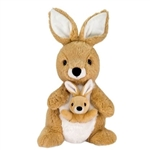 Mom and Baby Plush Kangaroos by Fiesta