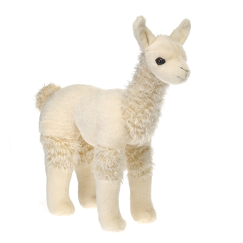 Stuffed Llama 12 Inch Standing Plush Animal By Fiesta