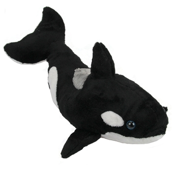 Stuffed Orca 15 Inch Plush Killer Whale by Fiesta