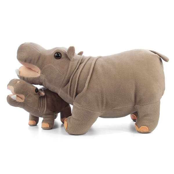 179577252618 Standing Stuffed Hippo with Baby by Fiesta at Stuffed Safari