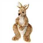 Stuffed Kangaroo 14 Inch Plush Australian Animal by Fiesta