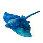 Stuffed Blue Stingray 14 Inch Plush Animal by Fiesta