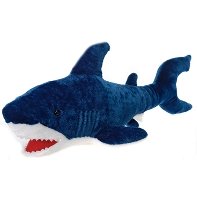 Large Stuffed Blue Shark 29 Inch Plush Animal by Fiesta