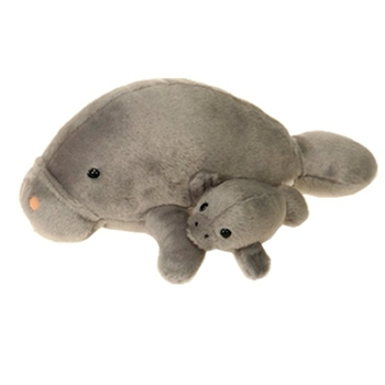 Stuffed Manatee with Baby by Fiesta