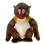Realistic Mandrill Stuffed Animal by Fiesta