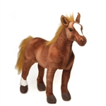 Large Standing Thoroughbred Horse Stuffed Animal by Fiesta