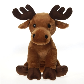 Large Sitting Moose Stuffed Animal by Fiesta
