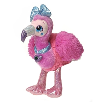 Stella the Stuffed Pink Flamingo Sparkle Starz by Fiesta