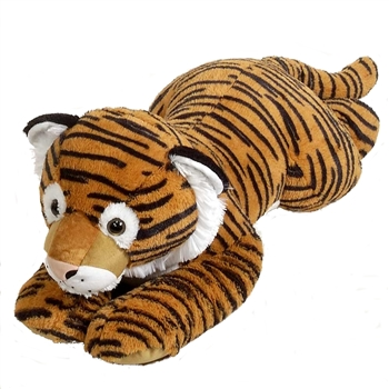 Jumbo Lying Stuffed Tiger Plush Animal by Fiesta