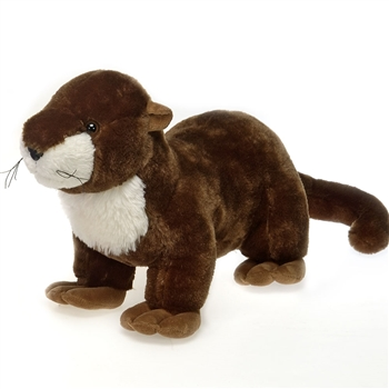 Stuffed River Otter 18 Inch Plush Animal by Fiesta