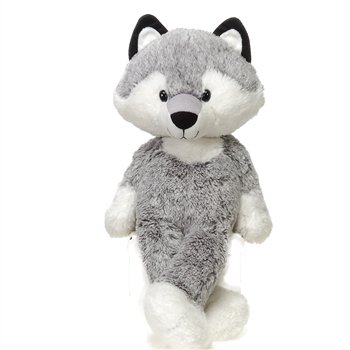 August the Fuzzy Folk Wolf Stuffed Animal by Fiesta
