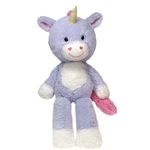 Lilly the Fuzzy Folk Purple Unicorn Stuffed Animal by Fiesta