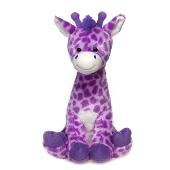 Large Sitting Lavender Stuffed Giraffe by Fiesta