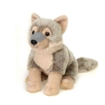 Stuffed Sitting Timber Wolf 9 Inch Plush Animal by Fiesta