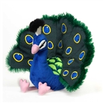 Stuffed Peacock 8 Inch Plush Animal by Fiesta