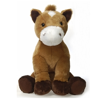 Large Sitting Stuffed Horse by Fiesta