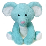 Jumbo Sitting Turquoise Elephant Stuffed Animal by Fiesta