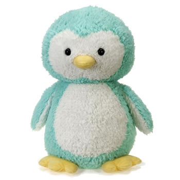 Jumbo Scruffy Turquoise Penguin Stuffed Animal by Fiesta