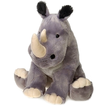 Sitting Rhinoceros Plush Animal by Fiesta
