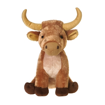 Large Sitting Stuffed Longhorn Bull by Fiesta