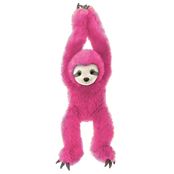 Hanging Stuffed Pink Sloth 20 Inch Plush Animal by Fiesta