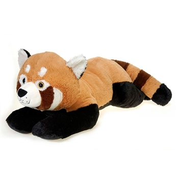 Jumbo Lying Stuffed Red Panda Plush Animal by Fiesta